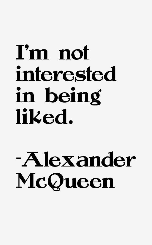 alexander mcqueen quotes - Google Search