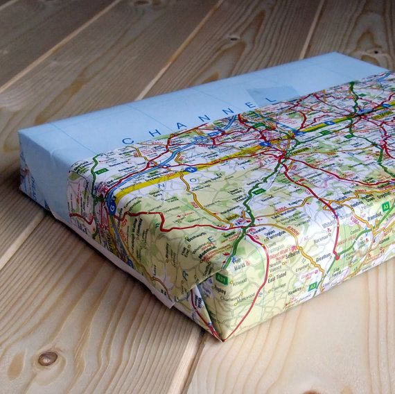 Paper Anniversary Gift For Him Framed Vintage Map by BookishlyUK