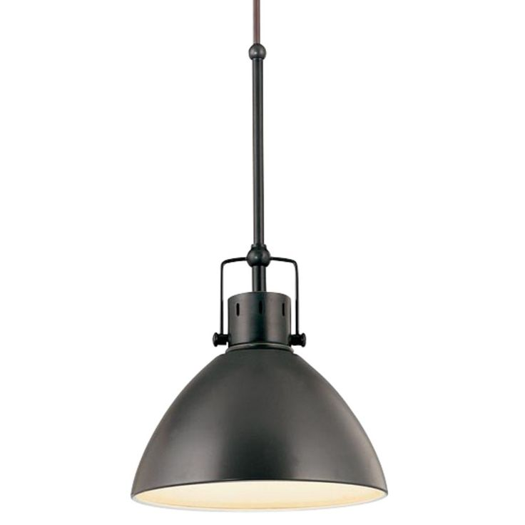 retro cone mini pendant light in aged bronze