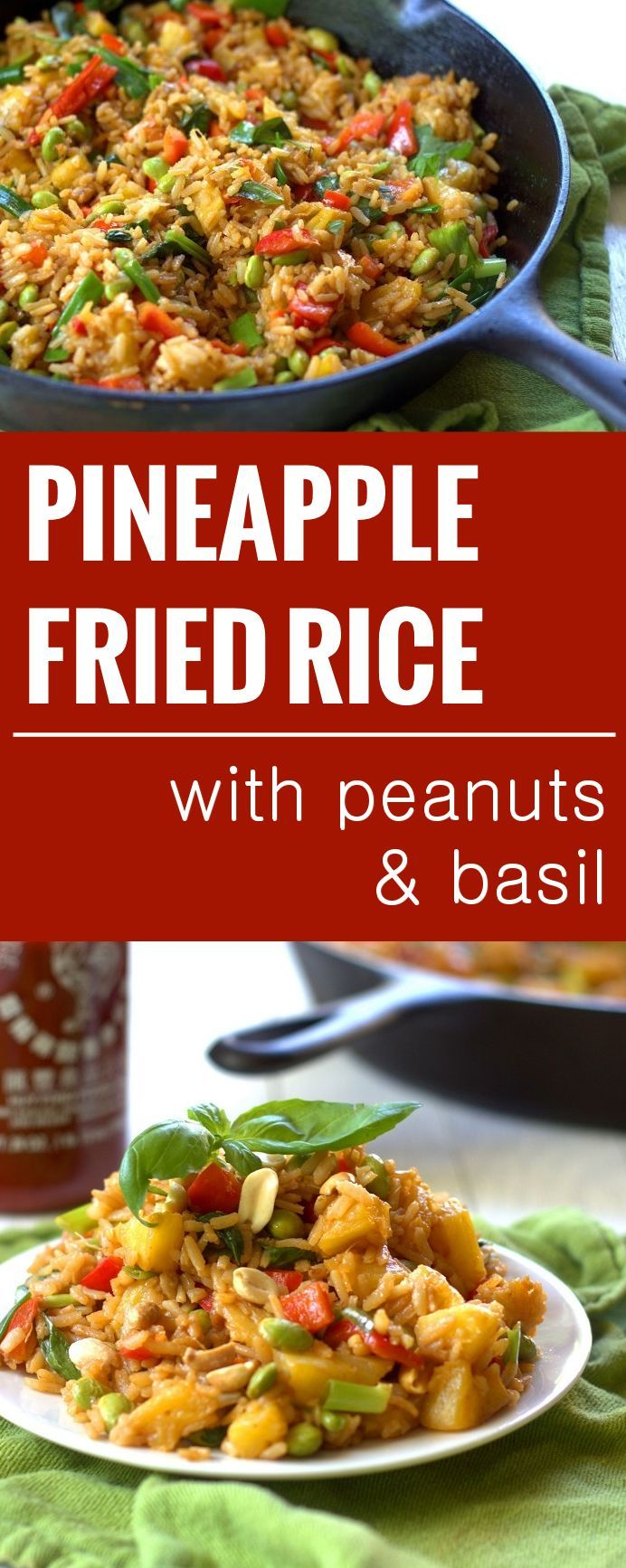 pinapple-fried-rice-long: However, if you're looking for a 'clean' recipie, you could replace the rice with cauliflower rice or even quinoa! I think pineapple in a stir fry is so tasty! And it's great for weight loss too