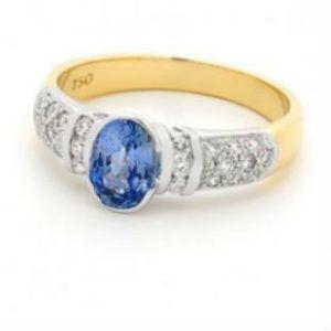 Diamond and Ceylon Sapphire