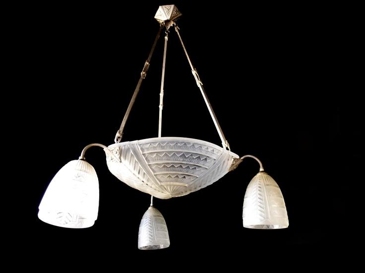 42 best art deco lighting images on pinterest art deco lighting stunning original art deco chandelier by jean noverdy france 1930s ebay 845 aloadofball Choice Image