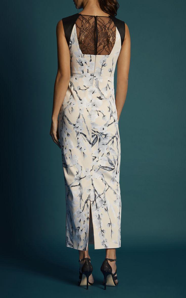 Karen Millen, CHERRY BLOSSOM MAXI DRESS Multicolour