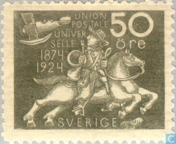 Sweden [SWE] - 50 years of UPU 1924