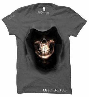 Kaos 3D Death Skull T-Shirt 3 Dimensi