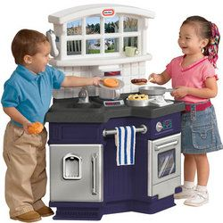 Little Tikes Side By Side Kitchen - Blue