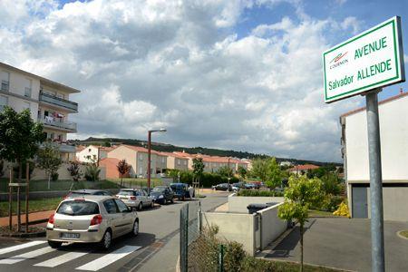 avenue Salvador Allende. Cournon-d'Auvergne. France