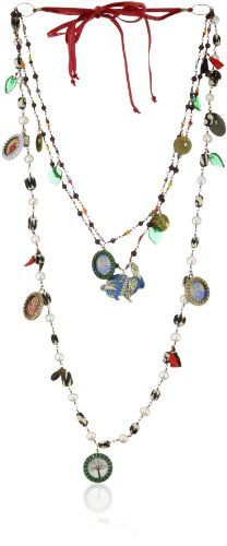 "Mercedes Salazar ""Multicharms"" Lucky Charms with Multi-Strand Pearl and Garnets Bunny Necklace Mercedes Salazar,http://www.amazon.com/dp/B006TPPO06/ref=cm_sw_r_pi_dp_c-r6sb07TFK6GDDC"