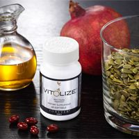 Vit♂lize™ Mens - Specifically designed for men. It has all of the power of Forever Pro 6® but now includes more nutrients. It contains proprietary botanical blend that provides nutrient balance for complete prostate support and helping the production of hormones.