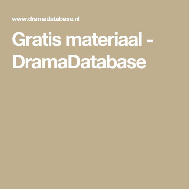 Gratis materiaal - DramaDatabase