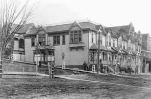 A fine example of Seattle row houses, ca. 1889