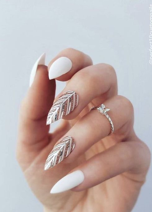 Stripping Tape Made Feather Nails Nail Designs In 2019 Feather Nails Feather Nail Designs