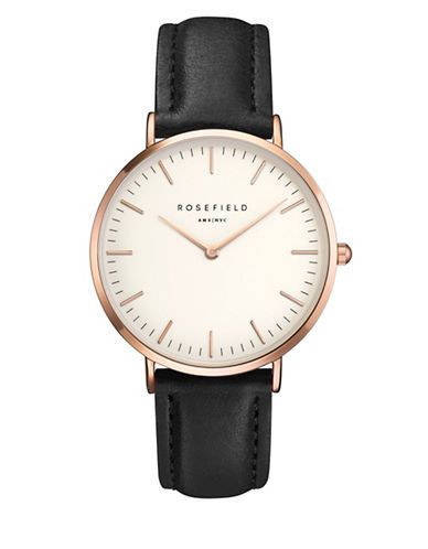 Hudson's Bay - Rosefield The Tribeca Analog Rose Goldtone Leather Strap Watch