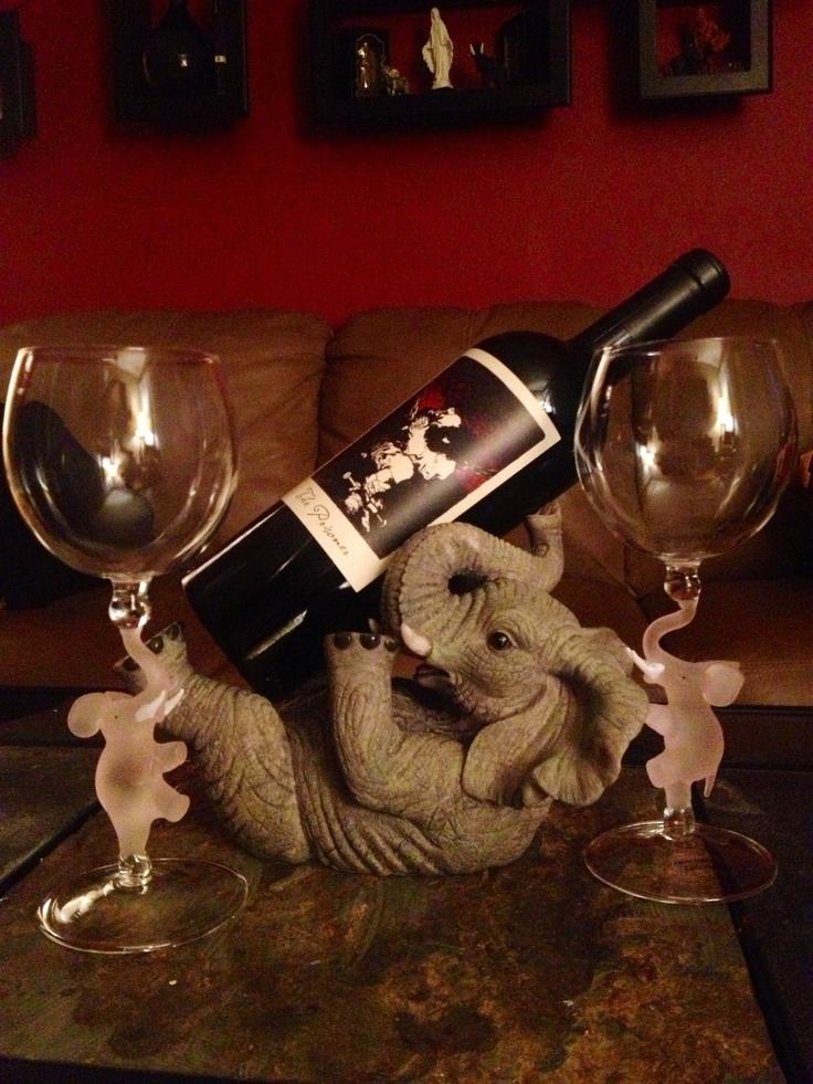 Pin by devon hawkswell on my dream house pinterest - Elephant wine bottle holder ...