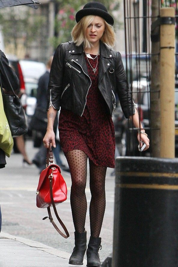 Celebs in leather jackets