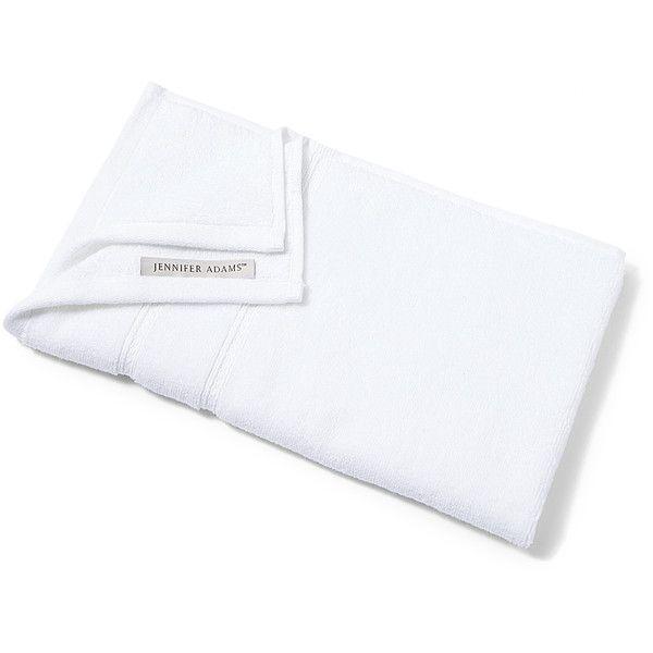 Jennifer Adams Home White Hand Towel ($5.99) ❤ liked on Polyvore featuring home, bed & bath, bath, bath towels, cotton bath towels, cotton hand towels and jennifer adams home