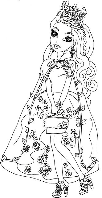 Ever after high ever after and coloring pages on pinterest for Ella coloring pages