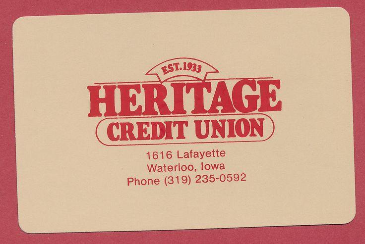 Heritage Credit Union Waterloo Iowa IA playing card single swap JOKER - 1 card