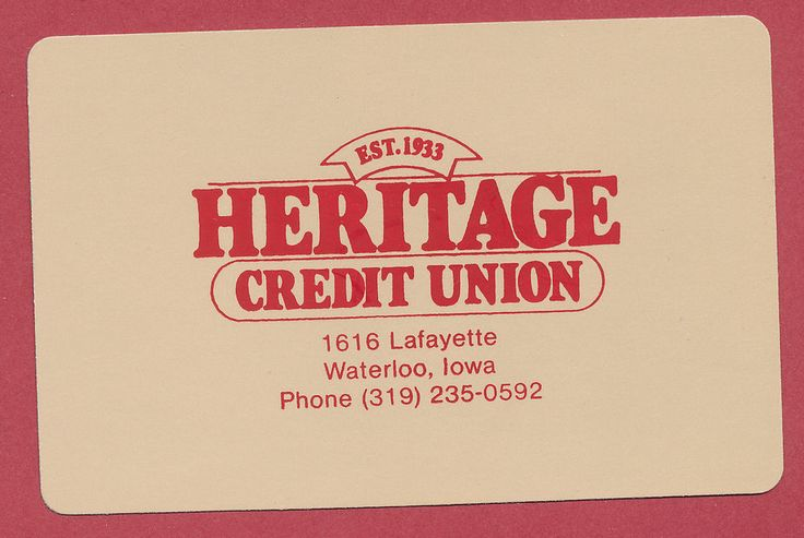 Heritage Credit Union Waterloo Iowa IA playing card single swap JOKER - 1 card