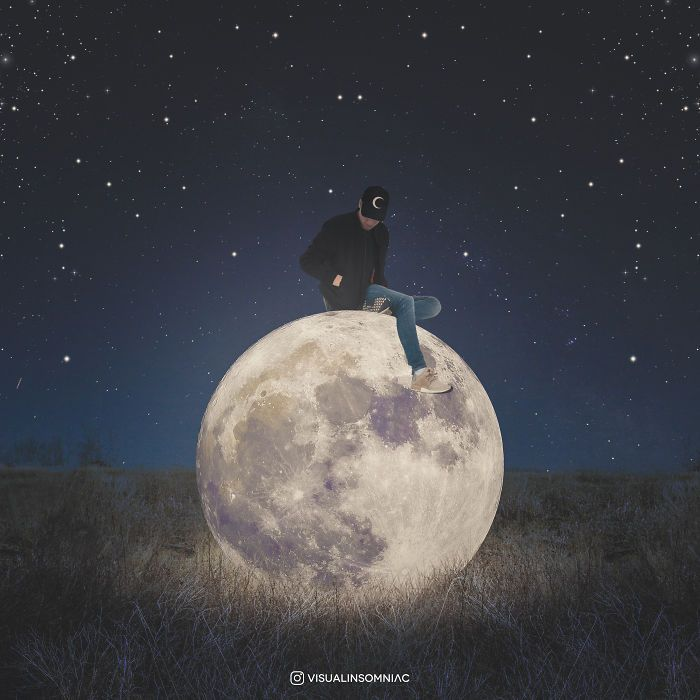 I Am A Selenophile That Expresses His Love To The Moon Through Art