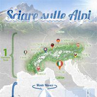 Sci sulle Alpi | Località Sciistiche dell'Arco Alpino (Infografica)