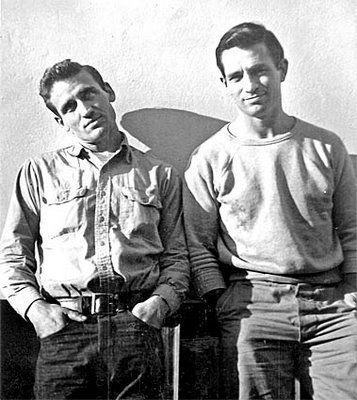 Neal Cassidy (left) & Jack Kerouac (right) - Picture taken in San Francisco by Carolyn Cassidy, 1952
