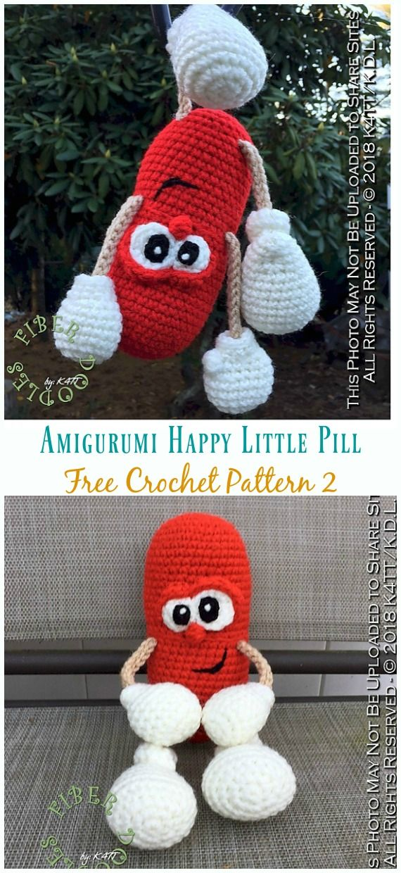 Crochet Happy Pill Amigurumi Free Patterns Crazy Cool Crochet Love