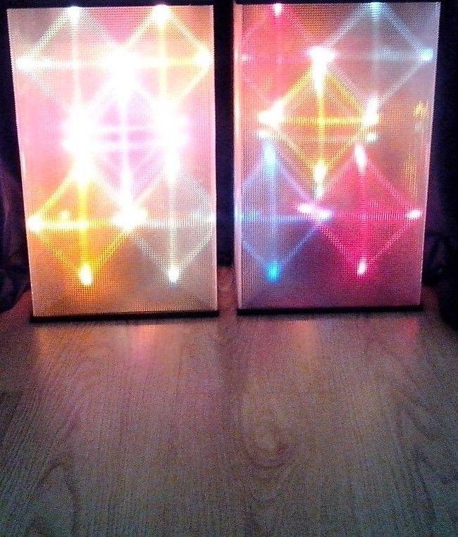 Vintage Color Organ Sound Sensitive Audio Modulated Disco