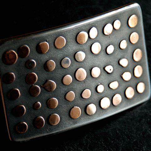 black polka dot belt buckle- my urbanware
