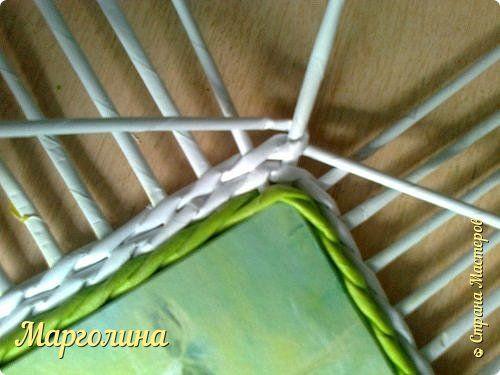 Мастер-класс Поделка изделие Плетение Небольшой МК прямоугольной крышки Как ее делаю я Бумага Бумага газетная Трубочки бумажные фото 7