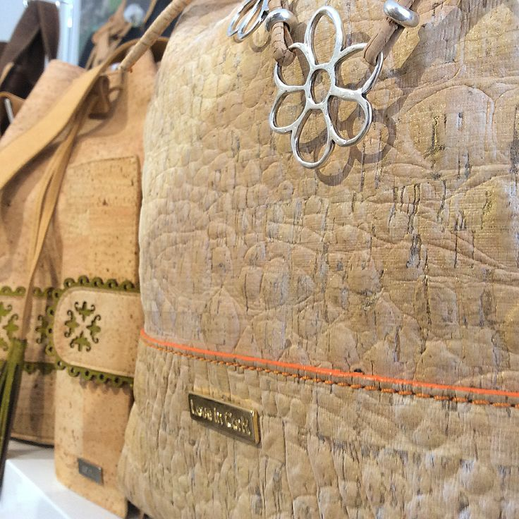 Cork handbags close up https://www.facebook.com/CorkLeather