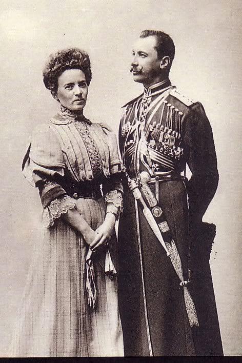 Барон Унгерн и его жена. Россия, 1900.