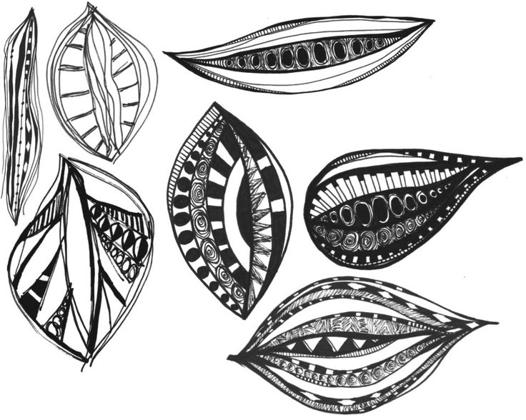 Leave Design doodled photoshop brushes in pen by Bestreeartdesigns on Etsy