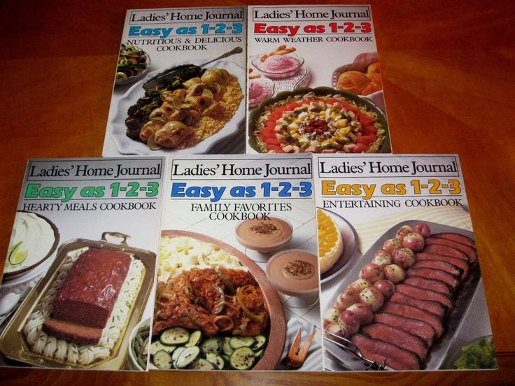 set of 5 Ladies' Home Journal Easy as 1-2-3 Cookbooks 1985