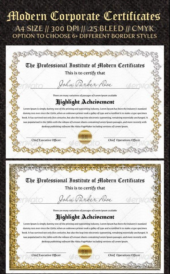 The  Best Certificate Format Ideas On   Certificate