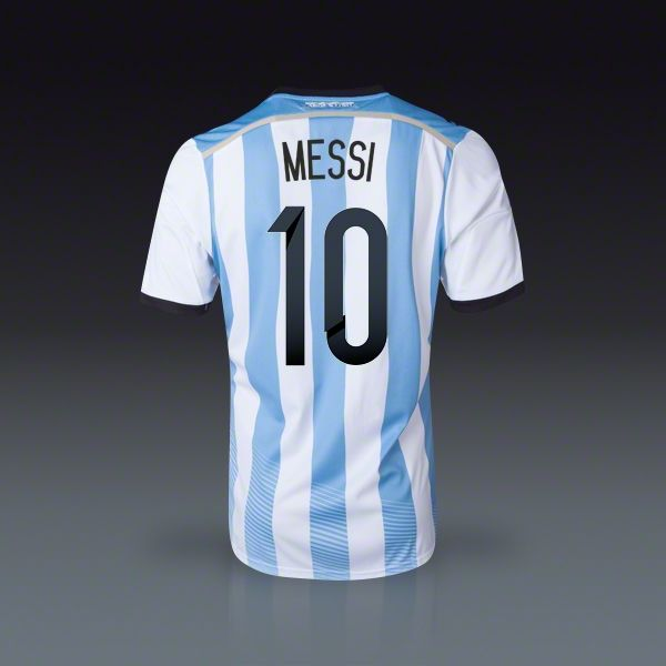#adidas Lionel #Messi  #Argentina Home #Jersey #2014