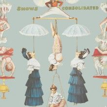 Tapet designer Circus The Great Show blue, MINDTHEGAP