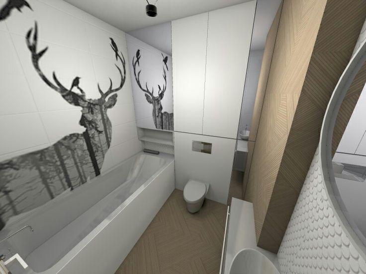 Nature in the bathroom #scandinaviandesign #scandi #interior #design #interiordesign #decoration #homedecor #decor #art #interiordecorating #homestyle #architecture #modern #flat #interior #deer #nature #tiles #idstudio