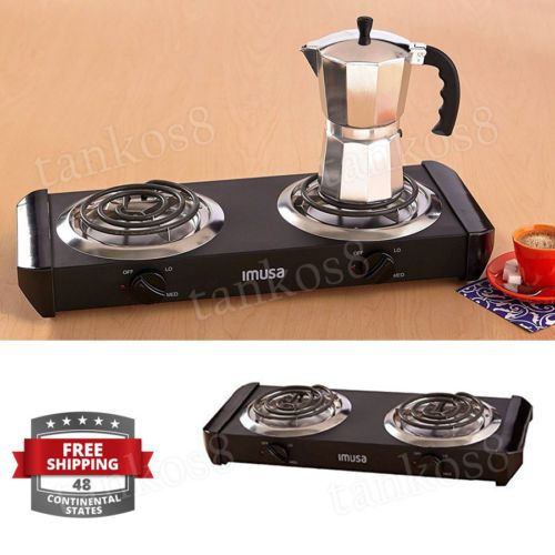 Portable-Cooking-Stove-Electric-Double-Burner-1500watts-Camping-Hot-Plate-Heatin