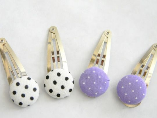 DIY button hair clips - who says they're just for little girls!