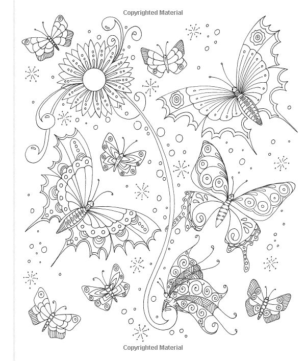 Tangled Gardens Coloring Book 52 Intricate Tangle Drawings To Color With Pens Markers Or