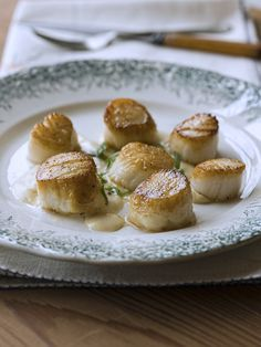 Pan-Seared Scallops with House Wine Sauce - Chef Michael Smith