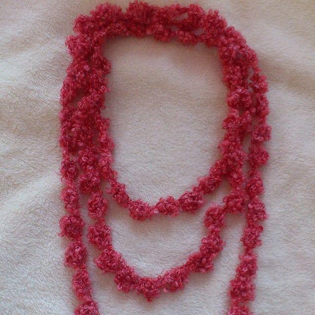 It's a bobble necklace! #crochet available on the #NiftyNadi #etsyshop #etsy #etsyseller #handmade