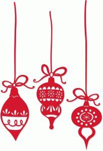Silhouette Design Store - View Design #69620: color vintage christmas ornaments