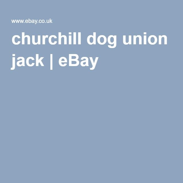 churchill dog union jack | eBay