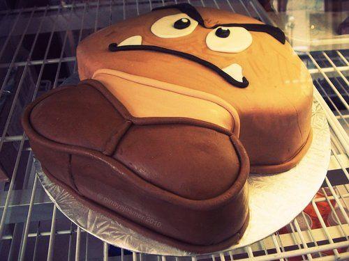 Goomba Cake is awesome: Geek, Birthday, Goomba Cake, Goombacake, Cakes, Food, Super Mario, Mario Bros, Cake Decorating