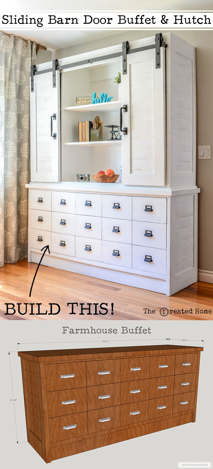 How to build a DIY farmhouse sliding barn door buffet