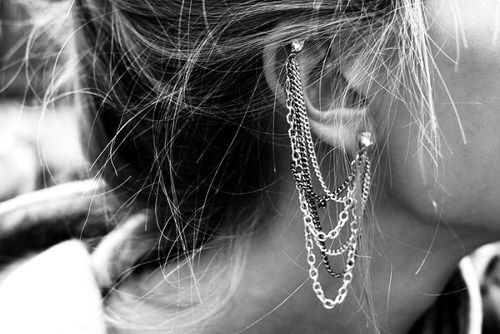 Ear Chains, because studs are chic too, but this is much more cool