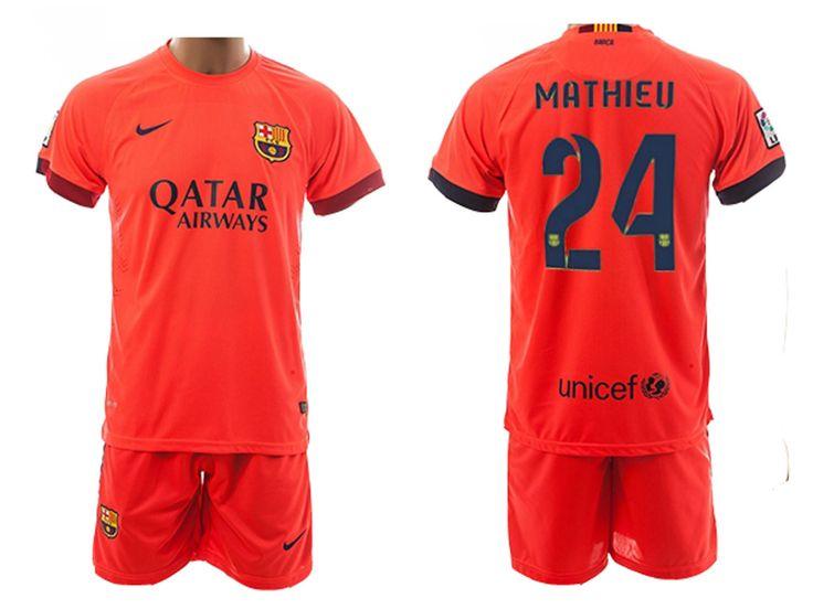 Nike 2014/15 FC Barcelona Extérieur Maillot de foot Pour Homme MATHIEU 24 - 1410173112 - Boutique Chaussures De Football,Maillot De Foot!