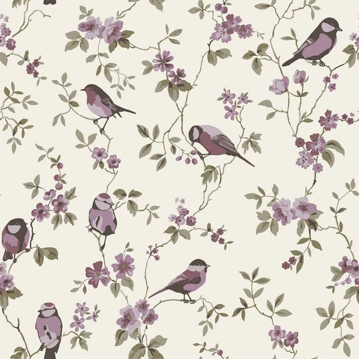 1000 images about allover on pinterest alexander henry fabrics sailors an - Papier peint oiseaux ...